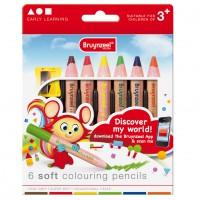 Meer informatie over Bruynzeel extra dikke kleurpotloden - 6 stuks