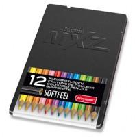 Meer informatie over Bruynzeel mXz 12 softfeel kleurpotloden in blik - zwart